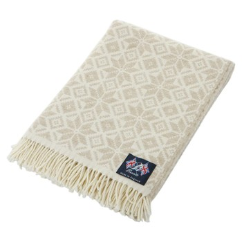 Snowflake Throw - Natural/White