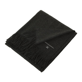 Trentino 2 Ply Fringed Throw - Charcoal