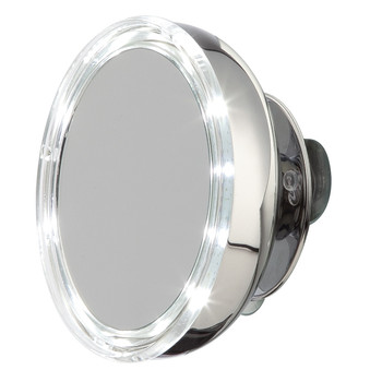 Stainless Steel Magnified LED Mirror - Small