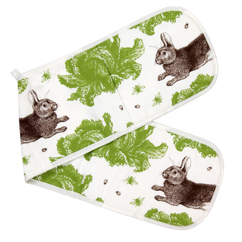 Rabbit & Cabbage Double Oven Mitts - Classic