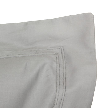 Triomphe Sateen Pillowcase - Platinum