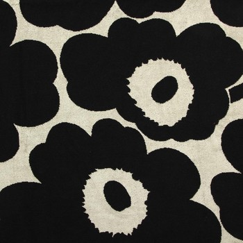 Unikko Beach Towel - Black/Sand