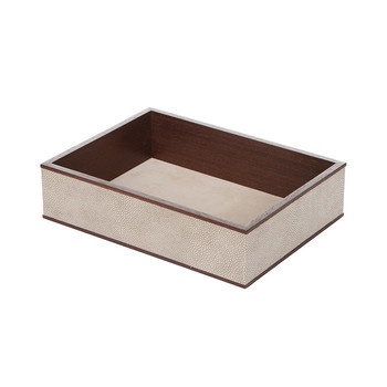 Wenge & Smoke Shagreen In-Tray
