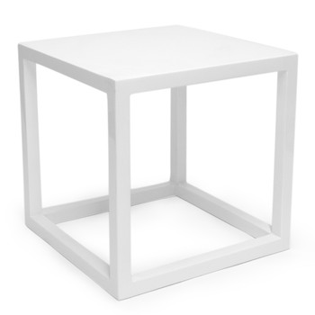 Lacquer Cubes Side Table - White