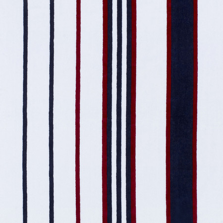 Tommy Hilfiger - Blue & Red Striped Beach Towel