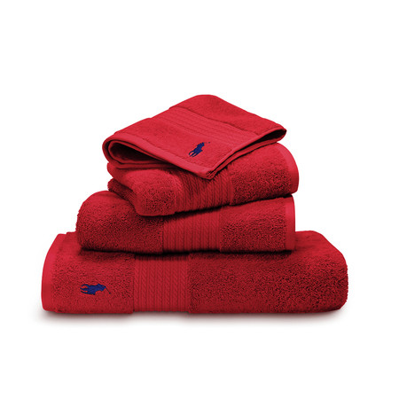 Ralph Lauren Home - Player Towel - Red Rose - Bath Towel