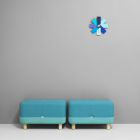 Normann Copenhagen - Watch Me Wall Clock - Blue
