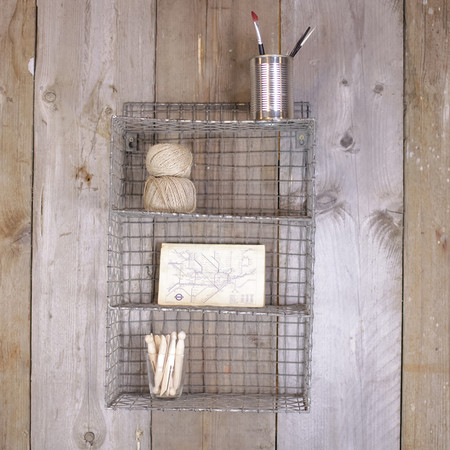 Nkuku - Locker Room Shelf - Distressed Grey