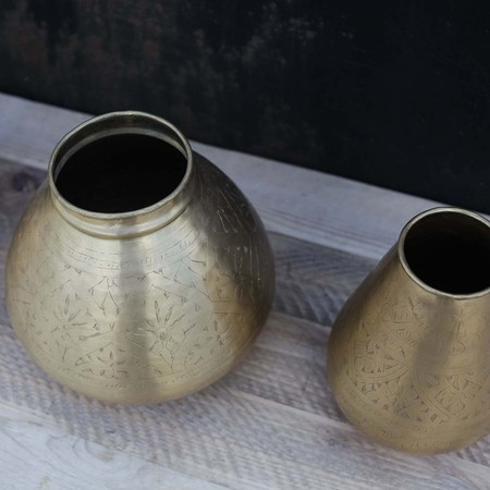 Nkuku - Nami Brass Pot - Tapered