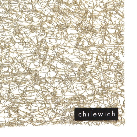 Chilewich - Metallic Lace Rectangle Placemat - Gold