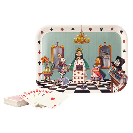 Avenida Home - Louise Kirk - Alice in Wonderland Tray - Court of Hearts