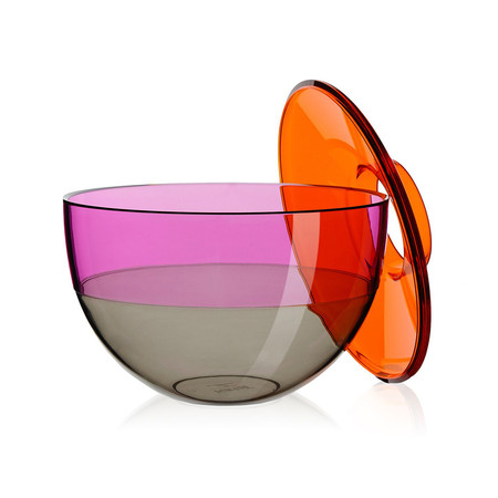 Kartell - Shibuya Vase - Orange/Violet/Smoke