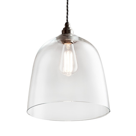 Old School Electric - Blown Glass Bell Pendant - Bronze - Extra Large
