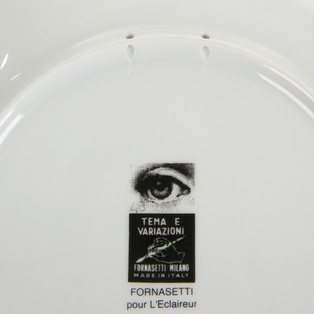 buy fornasetti tema e variazioni wall plate no 14 black and white amara