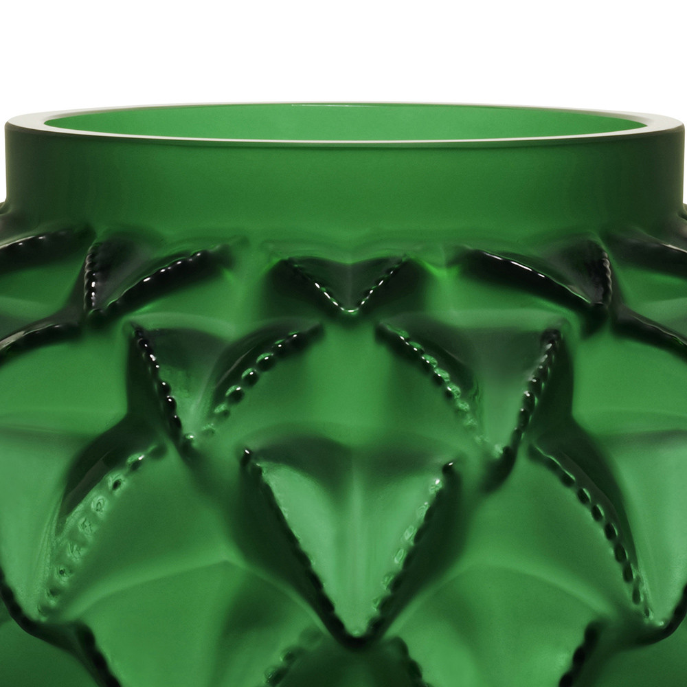 Lalique - Languedoc Vase - Green - Small