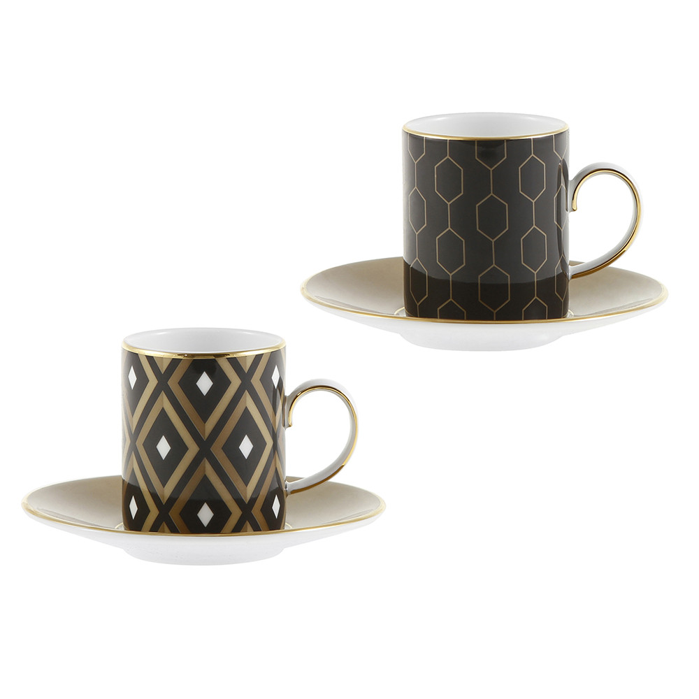Espresso Coffee Cups ~ Buy wedgwood arris espresso cup saucer set of