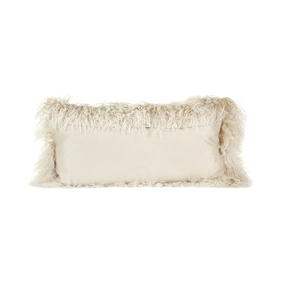 A by AMARA - Tibetan Sheepskin Pillow - 28x56cm - Arctic Sunrise