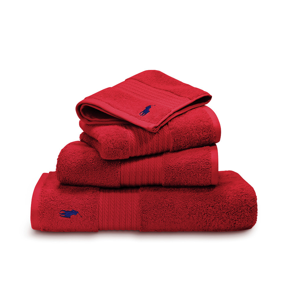 Ralph Lauren Home - Player Towel - Red Rose - Wash Cloth