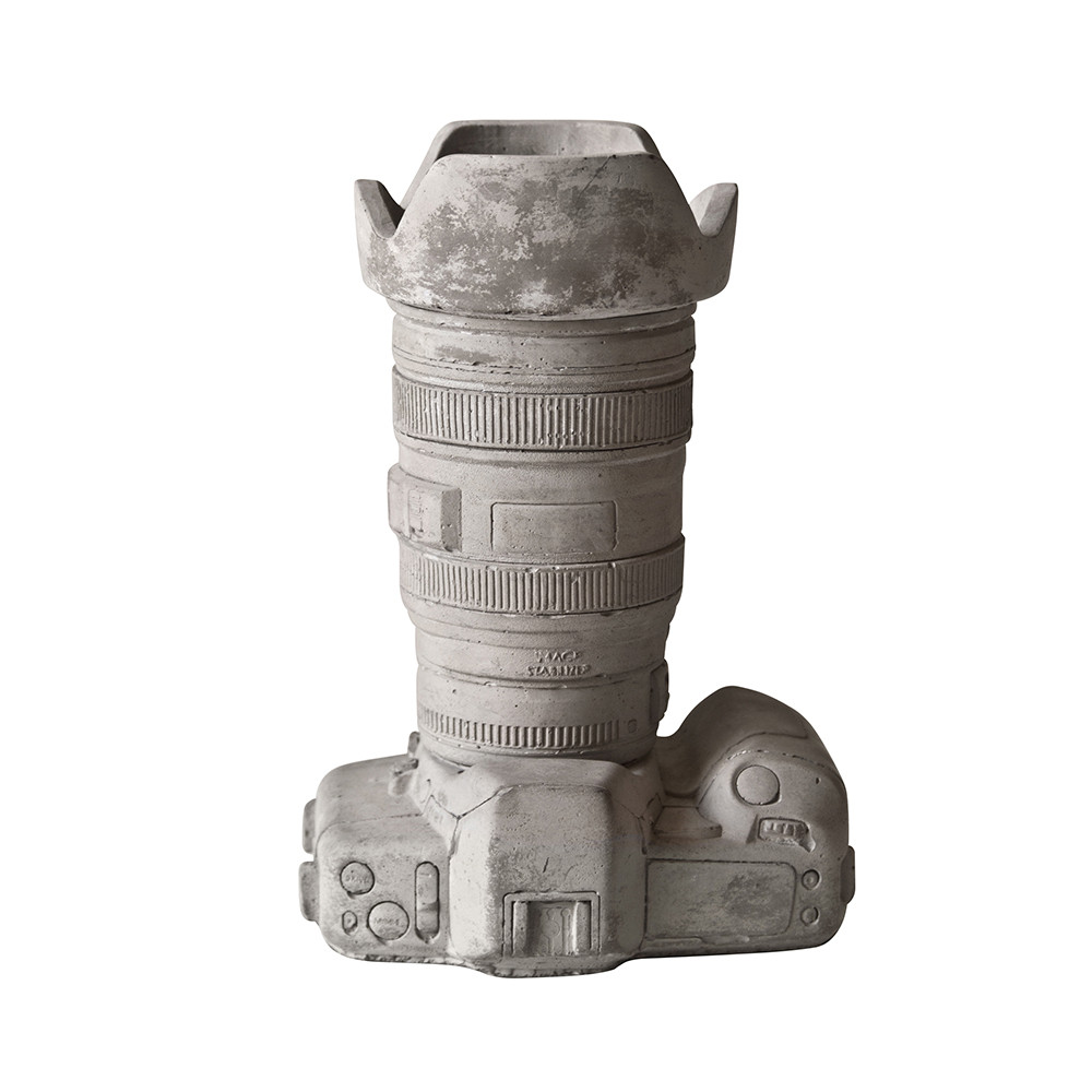 Seletti - Concrete Camera Pot - Design 2