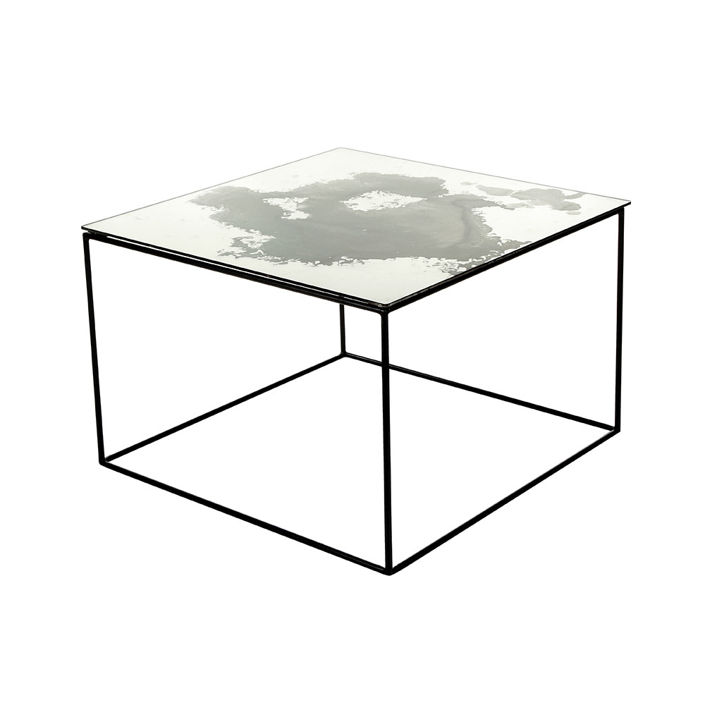 Buy a by amara iridescent glass coffee table 60x60x40cm for Coffee table 60 x 40