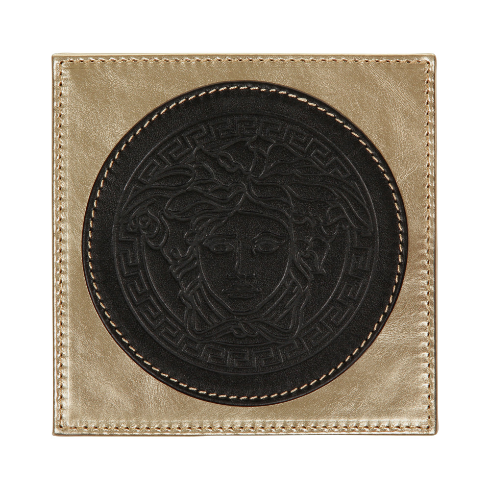 Image result for leather versace coasters black