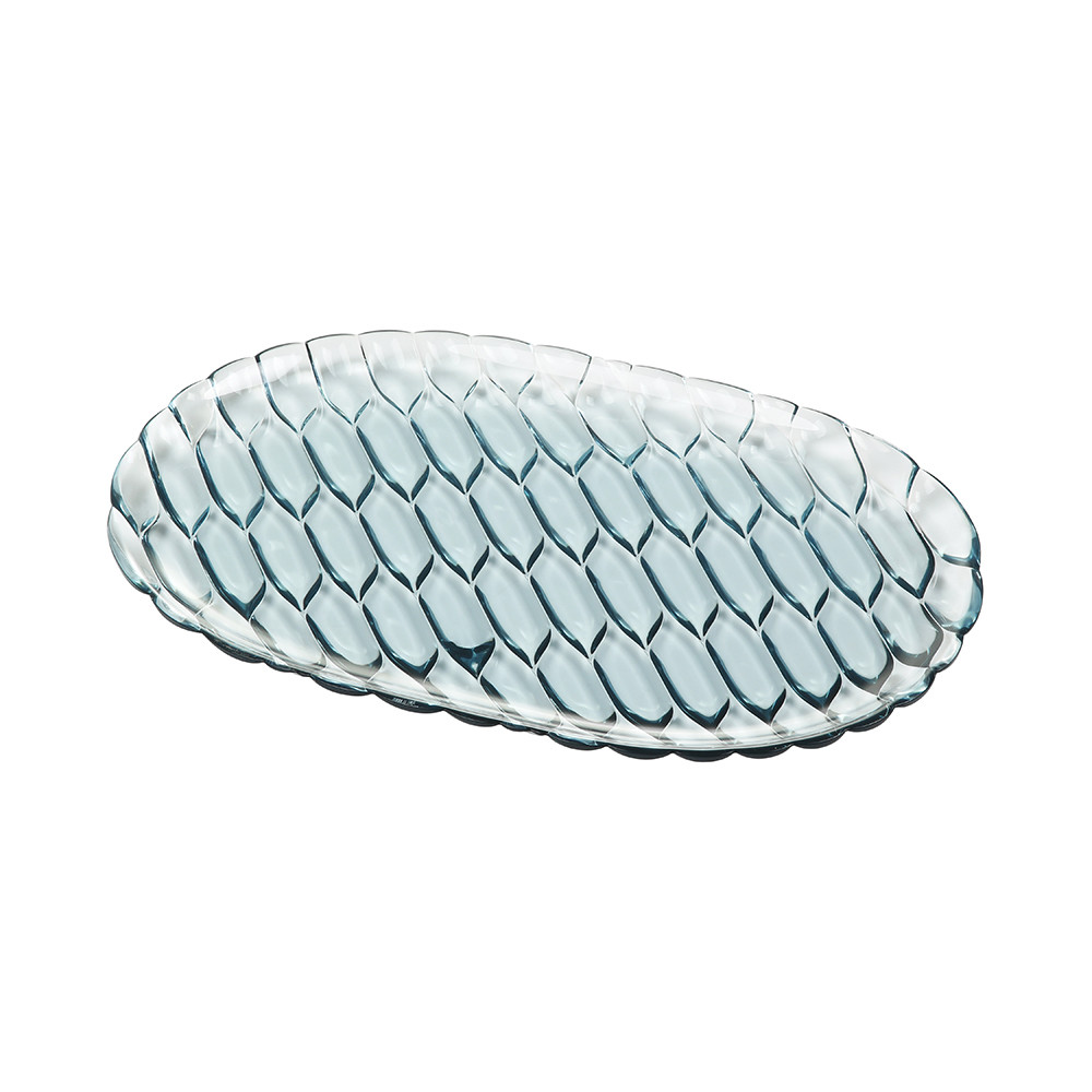 Kartell - Jellies Family Oval Tray - Sky Blue