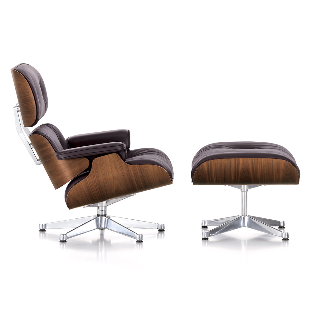 buy vitra lch xl eames lounge chair ottoman walnut chocolate amara. Black Bedroom Furniture Sets. Home Design Ideas