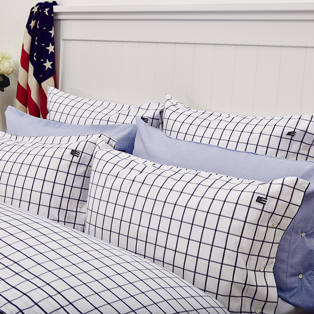 100  Checked Bed Linen Dawson Check Brushed Bedding Set M U0