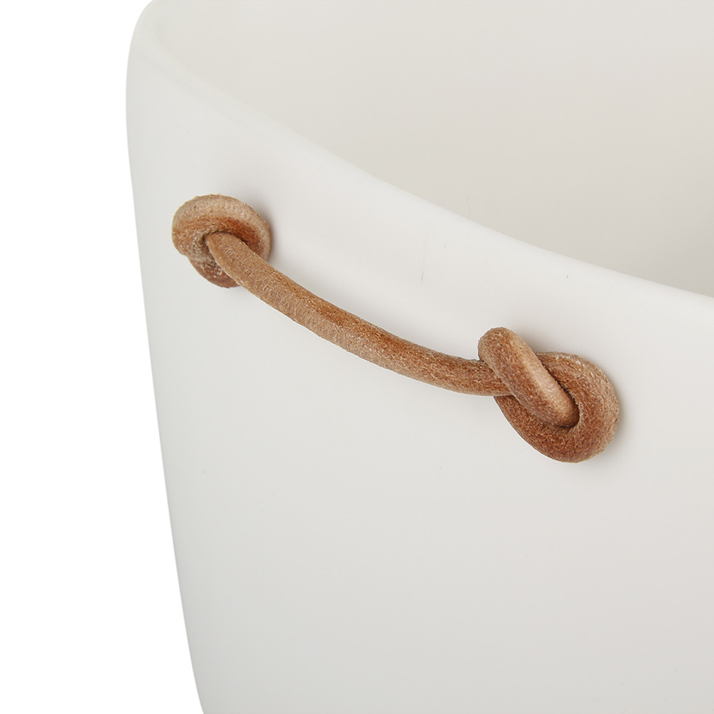 Tina Frey Designs - Large Bucket with Leather Handles - White
