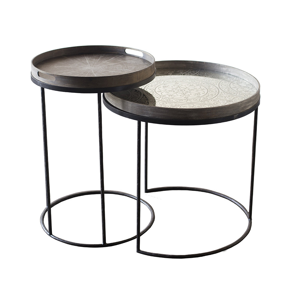 Buy notre monde round tray table small amara for Buy round table
