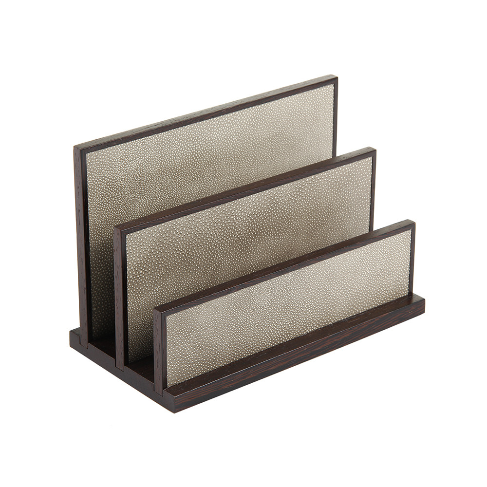 Alexander James - Letter Rack - Wenge and Smoke Shagreen