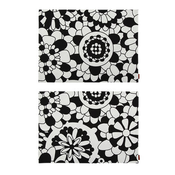 Bianconero Rectangular Placemat - Set of 2 - Nero