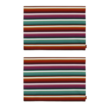 Missoni Home - Set de Table Rectangulaire Zig Zag - Lot de Deux - Bianconero Nero