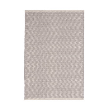 Herringbone Rug - Dove Grey - 61 x 91 cm