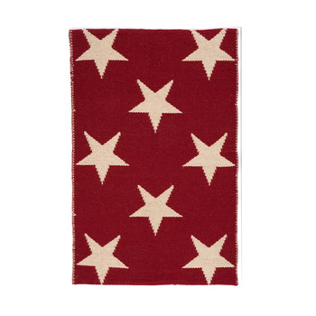 Star Rug - Red / Ivory
