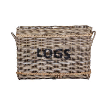 Rope and Rattan Log Basket
