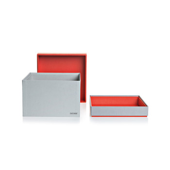 Cube Tray Box - Large - Red