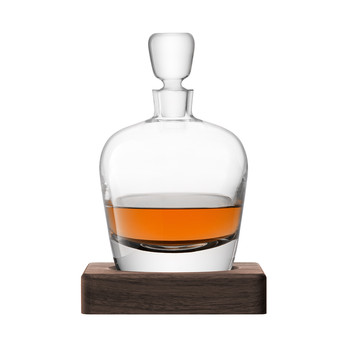 Whiskey Arran Decanter & Walnut Base