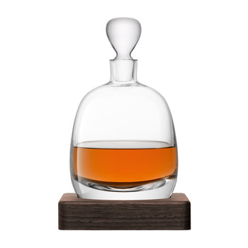 Whiskey Islay Decanter & Walnut Base