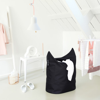 Oval Laundry Bag - 50 Liters - Black
