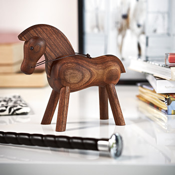 Horse Wooden Figurine - Walnut