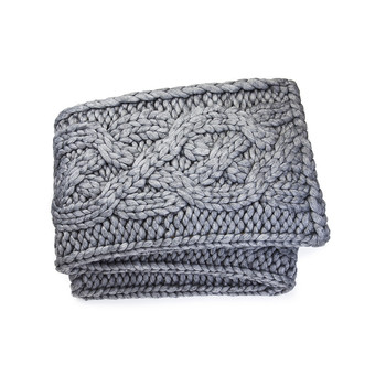 Oversize Knit Blanket - Gray