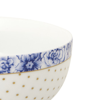 Royal White Dotty Bowl