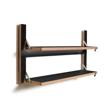 Flapps Double Folding Shelf - 80x40 - Black