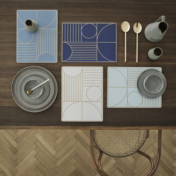 Outline Placemat - Dusty Blue