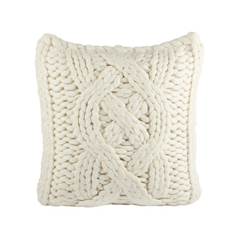 """Oversized Knit Cushion Cover 20"""" - Natural"""