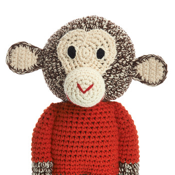 Crochet Midi Chimp - Mandarin