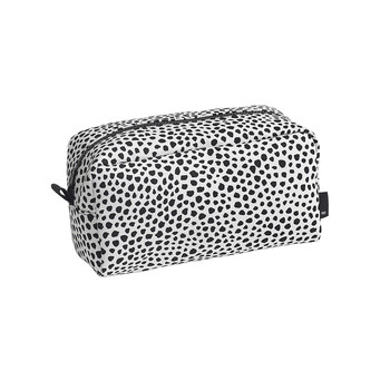 Dot Wash Bag - White with Black Dots