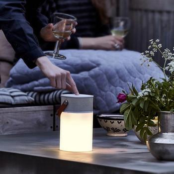 aGlow Bluetooth Speaker - White with White Front