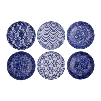 Nippon Blue Dipping Dish Gift Set - Set Of 6